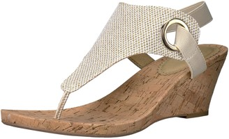 White Mountain Shoes Aida Women's Cork Wedge Sandal