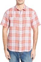 Tommy Bahama Caldera Plaid Standard Fit Linen Sport Shirt