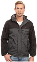 U.S. Polo Assn. Color Block Fixed Hood Windbreaker Jacket