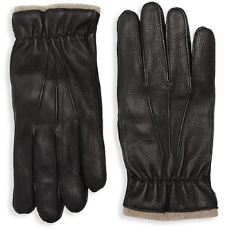 Saks Fifth Avenue Made In Italy Cashmere-Lined Leather Gloves