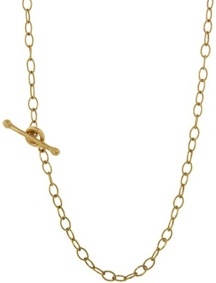 Cathy Waterman Tiny Lacy Chain 22K 24 Inch Yellow Gold Necklace