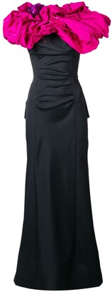 Nina Ricci Pre-Owned 2000's Draped Long Dress