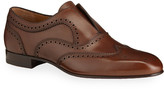 Christian Louboutin Men's Platerboy Brogue Slip-On Oxford Shoes