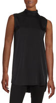 DKNY Silk Button-Front Top
