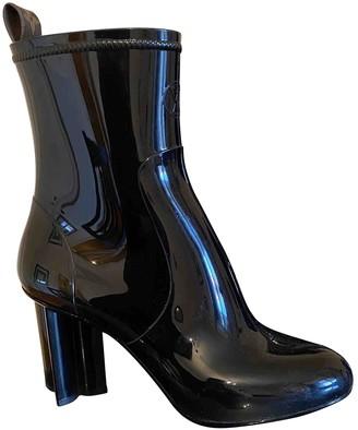 Louis Vuitton Silhouette Black Rubber Ankle boots