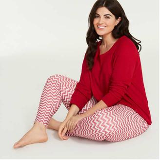 Joe Fresh Women+ Sleep Legging, Light Red (Size 3X)