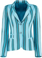 Koy Clothing Blue Striped Ladies Tailored Sporting Jacket