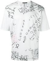 Issey Miyake lettering print T-shirt - men - Cotton/Nylon/Polyester - 1