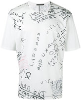 Issey Miyake lettering print T-shirt - men - Cotton/Nylon/Polyester - 3