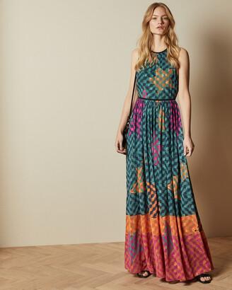 Ted Baker ZOHZOH Pinata high neck midi dress