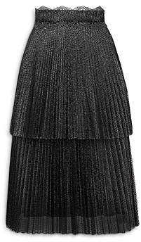 Christopher Kane Glitter Tulle Tiered Skirt