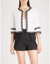 Maje Maderio floral-lace cardigan