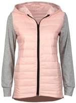 Gillberry Women's Jacket Gillberry Women Cotton Hooded Winter Warm Outwear Down Parka Jacket Coat (L, )