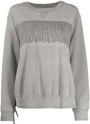 MM6 MAISON MARGIELA Fringed Detail Crew Neck Sweatshirt