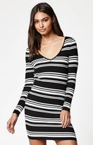 KENDALL + KYLIE Kendall & Kylie Double V Sweater Dress