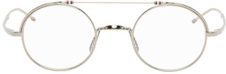 Thom Browne Silver and Gold Round TBX910 Glasses