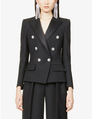 Alexandre Vauthier Double-breasted wool-blend blazer