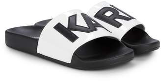 Karl Lagerfeld Paris Logo Slide Sandals