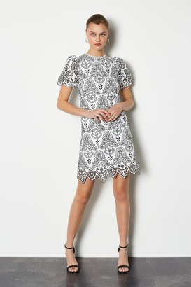 Karen Millen Chemical Lace Short Sleeve Dress