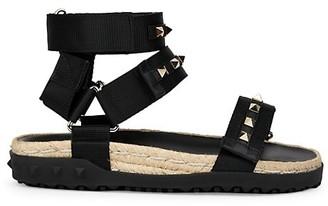 Valentino Rockstud Rubber Sport Sandals
