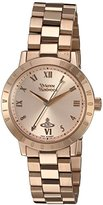 Vivienne Westwood Bloomsbury Women's Quartz Watch with Rose Gold Dial Analogue Display and Rose Gold Stainless Steel Bracelet VV152RSRS
