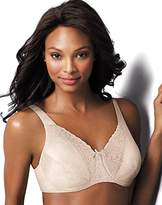 Playtex Women's Secrets Signature Floral Underwire Bra, Natural Beige, 40DD