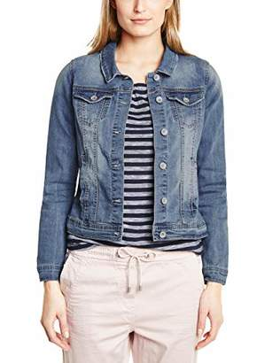 Cecil Women's 210974 Tyra Denim Jacket, mid Blue wash 10283