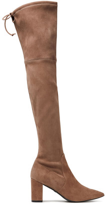 Stuart Weitzman The Lesley 75 Suede Over-the-knee Boots