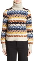 Chloé Women's Herringbone Wool & Cashmere Turtleneck Sweater
