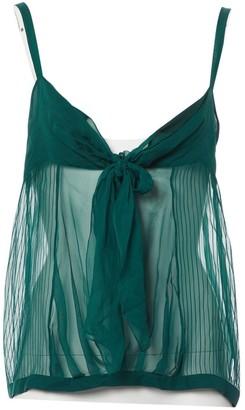 Chloé Green Silk Top for Women