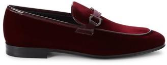Salvatore Ferragamo Seral Velvet Loafers