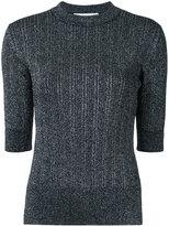 Le Ciel Bleu Glitter knit top - women - Polyester/Rayon/Nylon/Polyurethane - 36