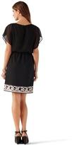 White House Black Market Polka-Dot Blouson Dress