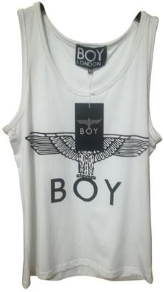 Boy London White Cotton Top for Women