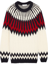 Chloé Snow Capsule Intarsia Wool Sweater - Cream
