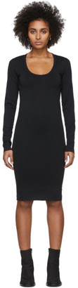 Helmut Lang Black Scoop Neck Dress