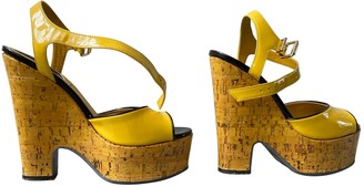 Fendi Yellow Patent leather Sandals