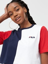 Fila Prudence Cut And Sew Crop T-Shirt - Multi