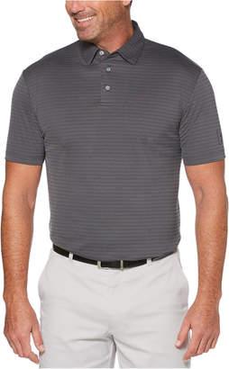 PGA Tour Men Big & Tall Textured Stripe Golf Polo