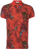 Etro reptile polo shirt