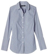 Banana Republic Riley-Fit Stripe Rounded-Collar Shirt