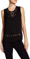 Nicole Miller Embellished Silk Blouse