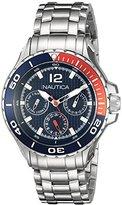 Nautica Midsize N21559M NST 02 Mid Classic Enamel-Bezel Stainless Steel Watch