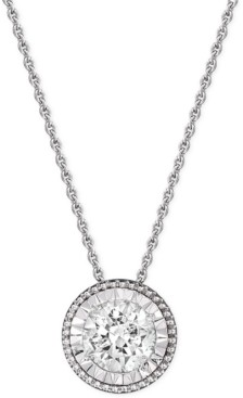TruMiracle Diamond Pendant Necklace (1/2 ct. t.w.) in 14k White Gold