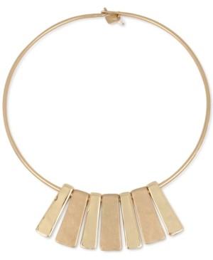"Robert Lee Morris Soho Gold-Tone Geometric Bar 16-1/2"" Collar Necklace"
