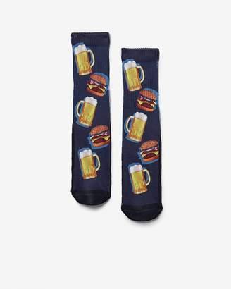Express Burger And Beer Photo Socks