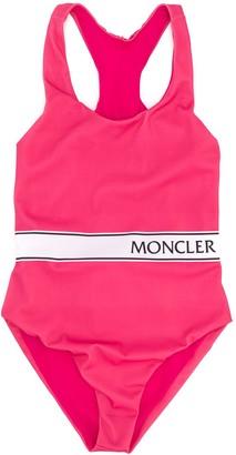 Moncler Enfant Logo Waistband Swim Suit