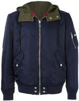 Diesel panelled back hooded jacket
