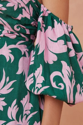 Keepsake WISTFUL MINI DRESS jade baroque