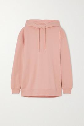 Ninety Percent Net Sustain Laura Organic Cotton-jersey Hoodie - Pink